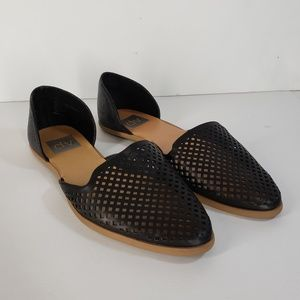 dolce vita black perforated D'Orsay flats
